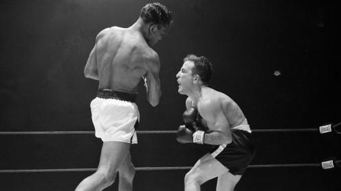 Sugar Ray Robinson fought Jake LaMotta six times winning five of those bouts.