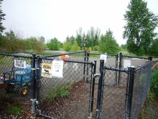 Magnuson Dog Park Entrance