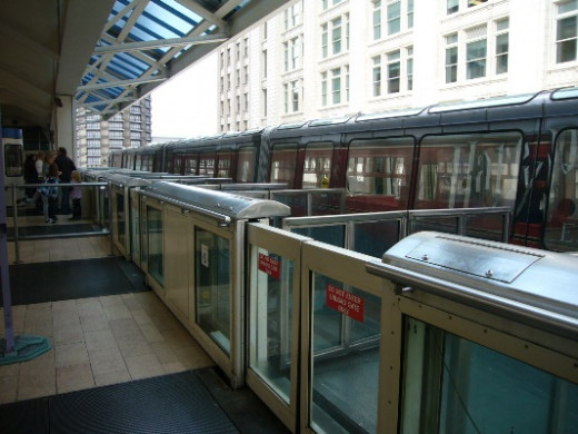 The Seattle Monorail Blue Car at Westlake Center