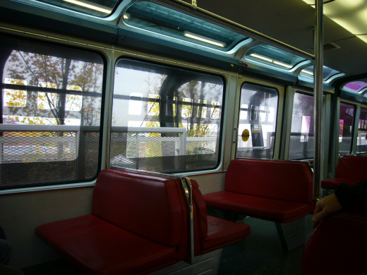 Inside the Seattle Monorail Red Car