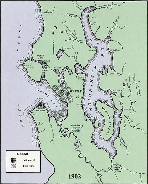 Map of Seattle 1902