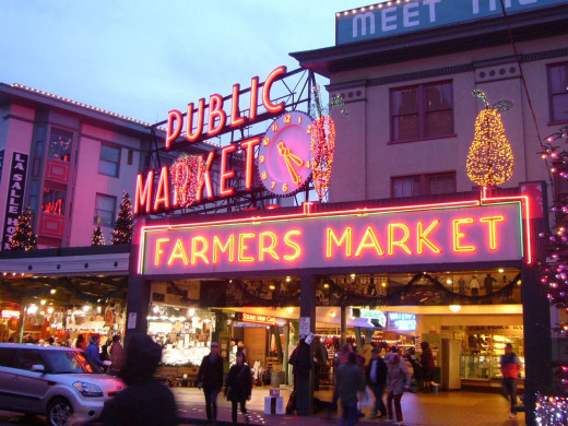 Christmas at the Pike Place Market Seattle