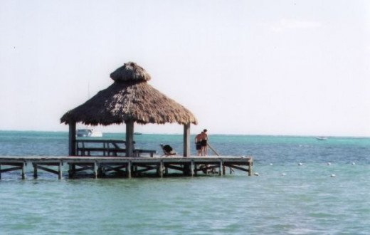 End of the Dock at Xanadu Island Resort - San Pedro, Belize