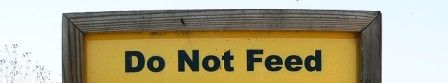 DO NOT FEED sign. Photo Attribution | Francis Storr | Flickr