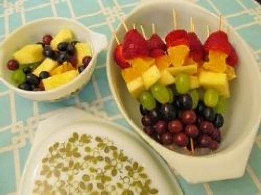 Rainbow Fruit Skewers by AquaOwl
