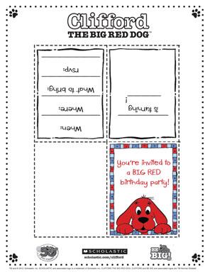 Printable Clifford invitations