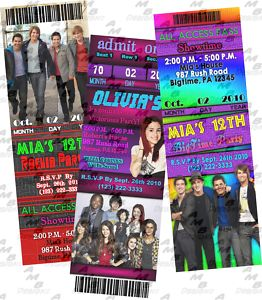 Personalized Big Time Rush invitations