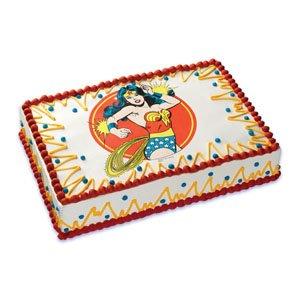 Wonder Woman edible cake topper