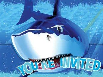 Shark Splash party invites