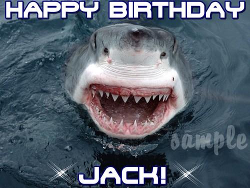 Shark edible cake image topper