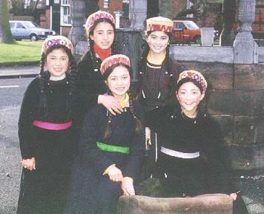 Cute innocent Ladakhi girls