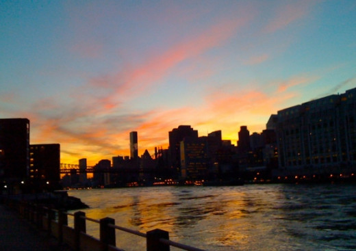 Looking downriver from Roosevelt Island