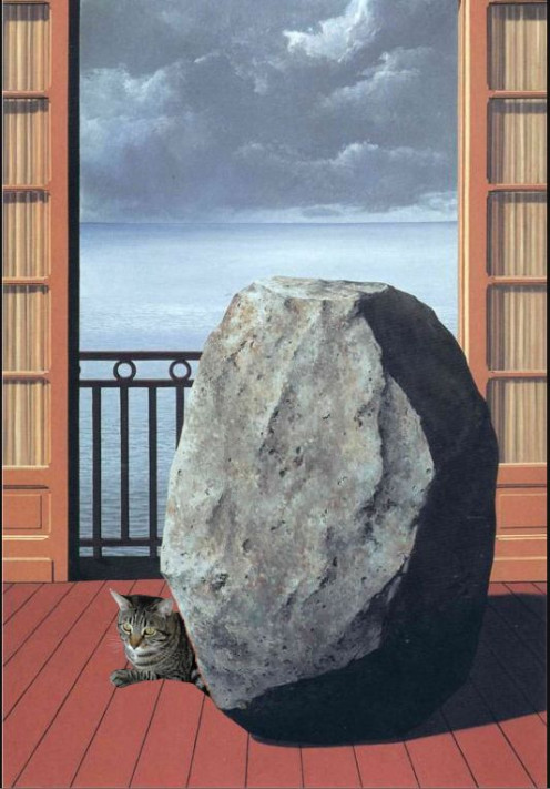 If René Magritte had an invisible world on canvas, why can't you have an invisible cat?