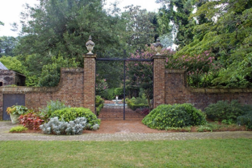 This beautiful gate is at the front of the gardens.