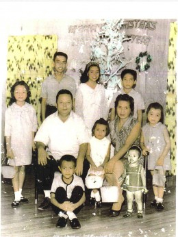 Whole family with youngest (8th).