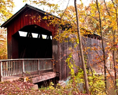 Fall at Michigan Covered Bridge