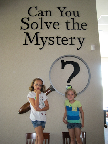 There were lots of mysteries to solve in this exhibit.