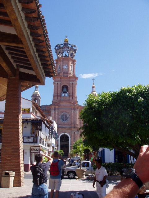 Beautiful old cathedral in downtown Puerto Vallarta.