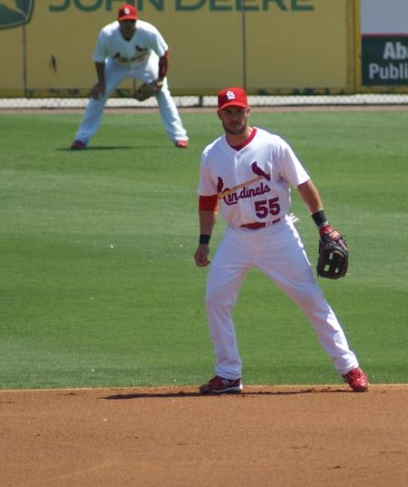Skip Schumaker at 2nd base.