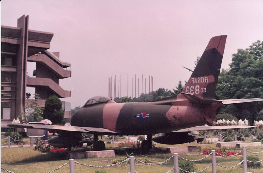 A Republic of Korea Air Force, F-86 Sabre, June 1991.