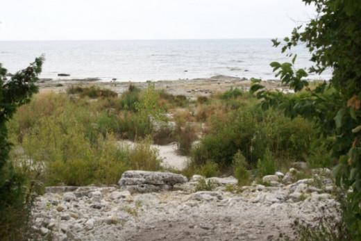 Path to island.