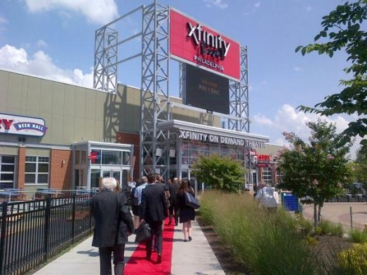 Xfinity Live, a sports entertainment complex in Philadelphia, is just one small part of the Comcast sports empire