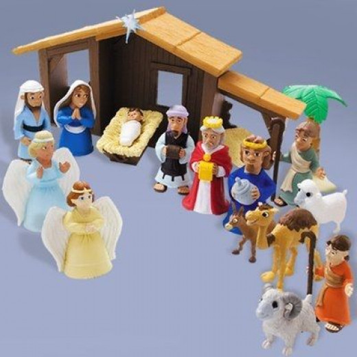 The Tales of Glory Nativity Set would be a good choice for kids.