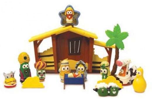VeggieTales Nativity Set