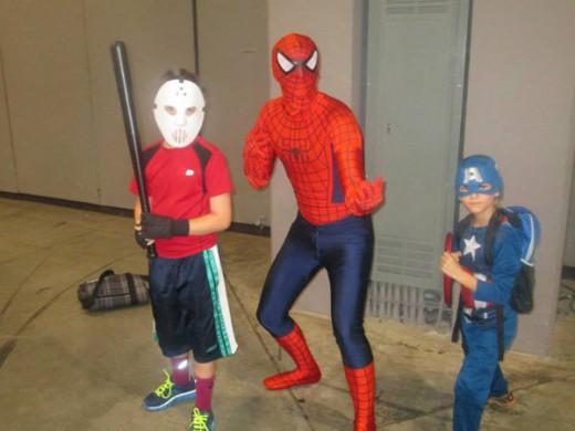 Casey Jones, Spider-Man, Captain America