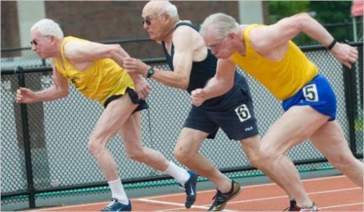 Old Men Running