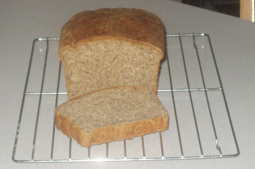 This flax bread is fresh from the oven.