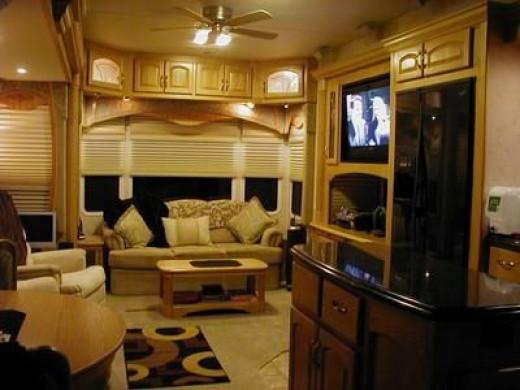 Inside a Teton RV