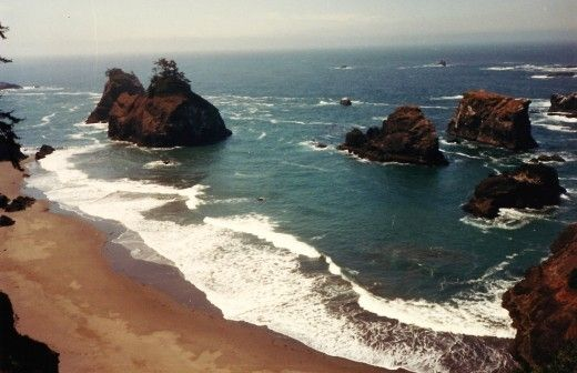 Oregon Coastline in Google Easth