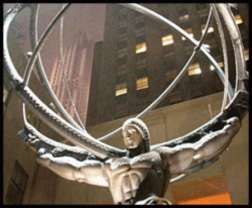 Atlas in front of Rockefeller Center