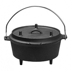 WearEver Cook & Strain Stainless Steel 5-Quart Dutch Oven with Glass Straining Lid