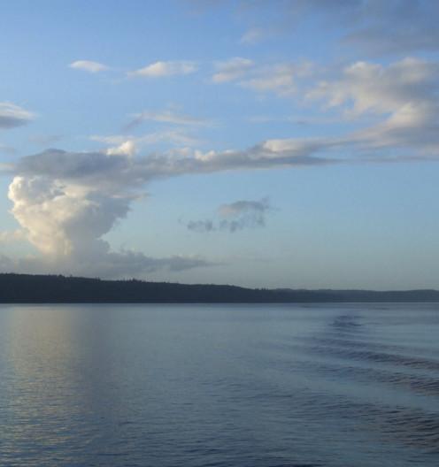 Evening on Washington state's Puget Sound