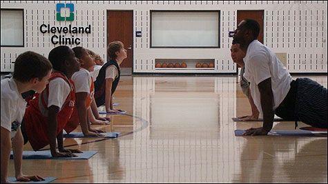 LeBron James taking his Yoga message to schools / Dana Bail / Cavaliers Photo
