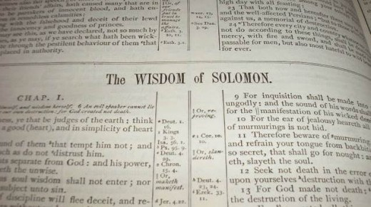 The Wisdom of Solomon is NOT the same as the Song of Solomon aka Canticles.