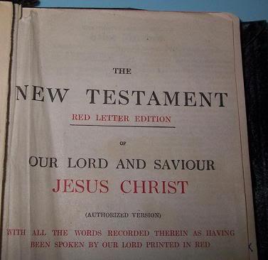 Jesus Words in Red