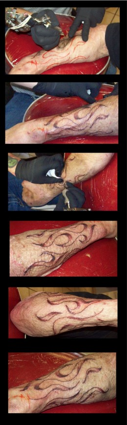 For more info about Tattooing on scars check out: Tattoos on Burn Scars
