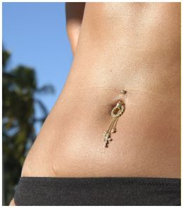 Navel piercing picture