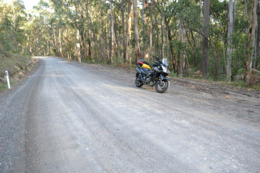 The Bonang Highway high in the hills near the Victoria/New South Wales border in East Gippsland.