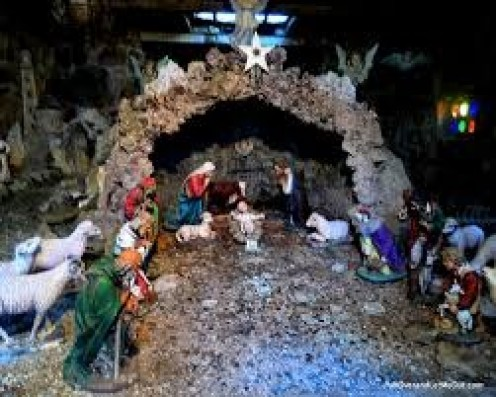 The Ava Maria Gratto has a miniature Manger scene with Baby Jesus, Mary, Joseph and the wise men. Taking pictures is allowed and even encouraged.