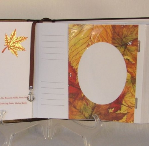 Using speciality papers carries the theme throughout the photo album.