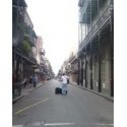 A Street Musician in the New Orleans French Quarter