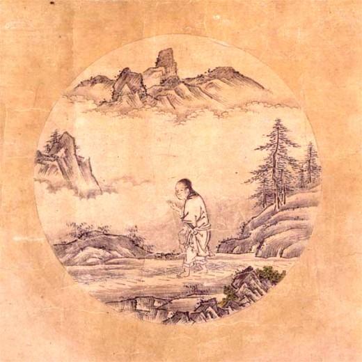 Oxherding Picture (1 of a series) 15th Century by Zen Monk Shubun