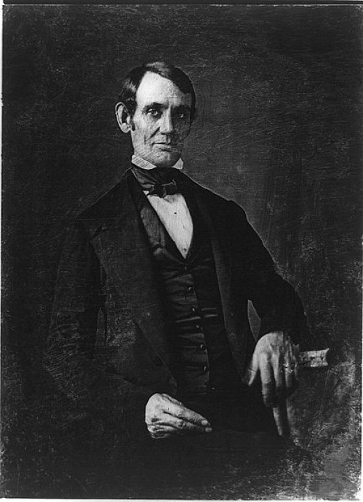 A daguerreotype of Abraham Lincoln taken in 1846.