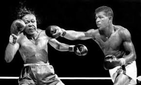 Sugar Ray Robinson beat the great Kid Gavilan twice in welterweight bouts.