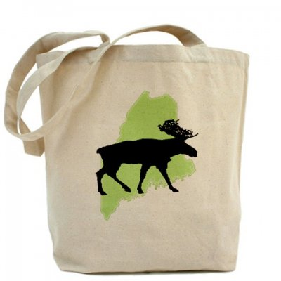 Maine Moose Reusable Tote