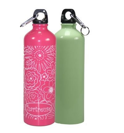 The chemical free chic reusable water bottle from Chartreuse! Included in the Deluxe Reusable Set or available on its own!